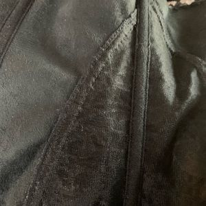 Unbranded Tops - Beautiful Faux Leather & Lace Skirted Corset Zipup
